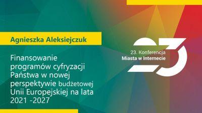 Agnieszka Aleksiejczuk, dyrektor Departamentu Społeczeństwa Informacyjnego Urzędu Marszałkowskiego Województwa Podlaskiego