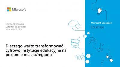 Cecylia Szymańska, dyrektor Sektora Edukacyjnego, Microsoft Polska