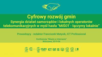 Cyfrowy rozwój gmin - MiŚOT łączymy lokalnie