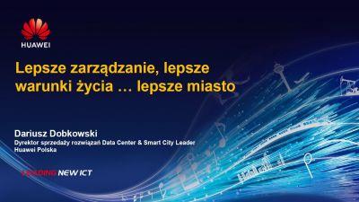 Dariusz Dobkowski, dyrektor Sprzedaży Rozwiązań Data Center, Huawei Polska