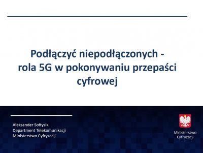 Dr Aleksander Sołtysik, naczelnik Wydziału Międzynarodowej Polityki Telekomunikacyjnej Ministerstwo Cyfryzacji