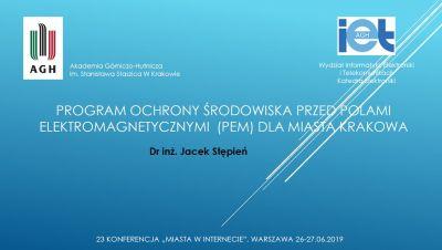 Dr inż. Jacek Stępień, Akademia Górniczo-Hutnicza, Kraków