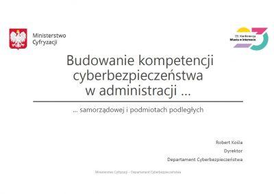 Robert Kośla, dyrektor Departamentu Cyberbezpieczeństwa Ministerstwa Cyfryzacji