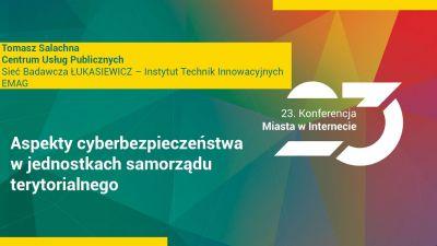 Tomasz Salachna, ekspert IT Instytutu Technik Innowacyjnych EMAG